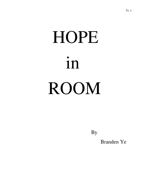 The Hope in Room