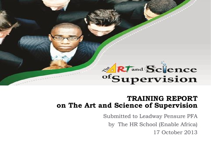 Training Report - The Art & Science of Supervision for LPFA
