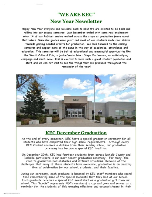 We Are KEC - New Year Newsletter