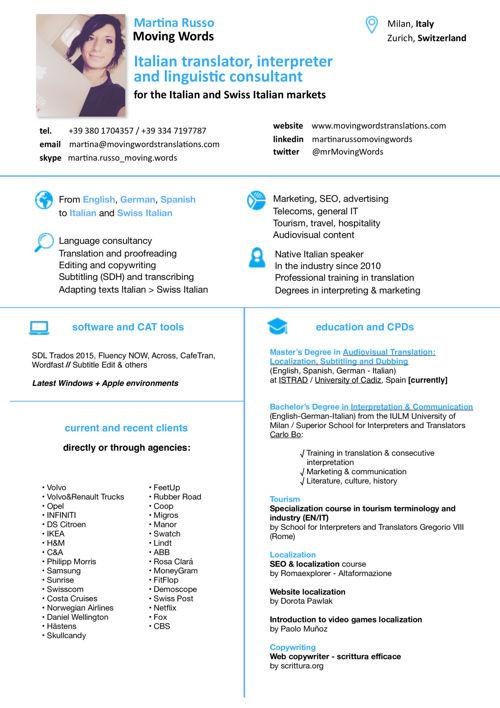 Martina Russo_Italian Translator CV