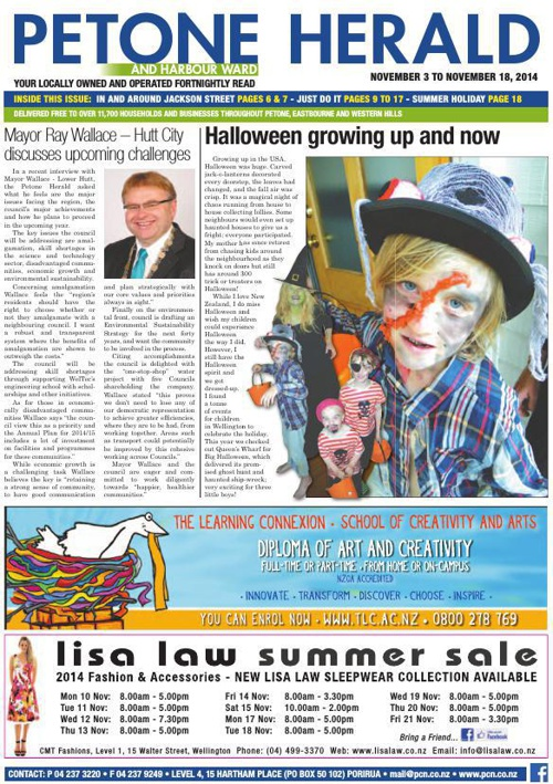 Petone Herald 5 November 2014