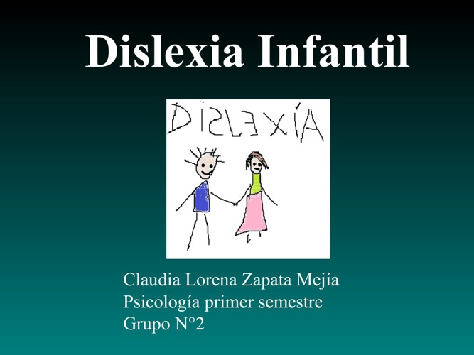 Dislexia infantil.