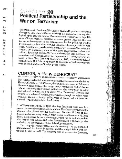 Ch. 20: Political Partners and the War on Terror