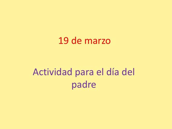 Actividad para celebrar el Día del Padre