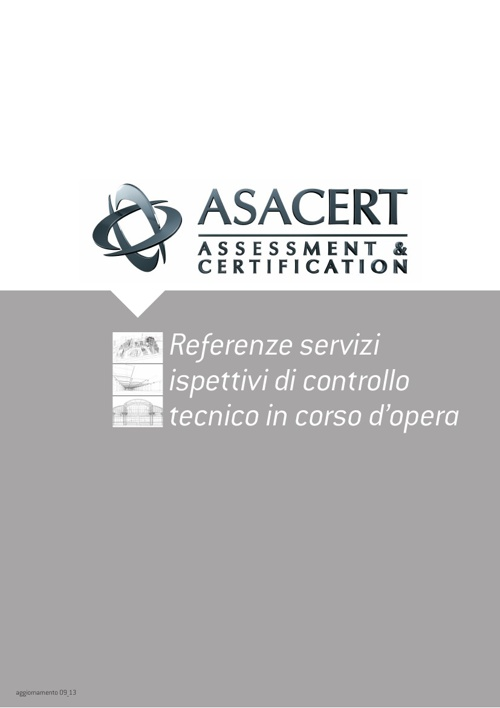 Referenze ASACERT Inspection