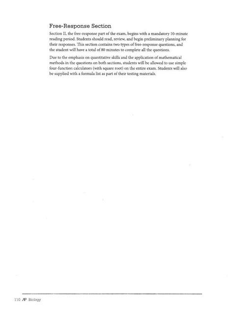 Free Response Key 2012