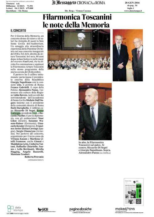 Rassegna Stampa - Toscanini il coraggio della musica