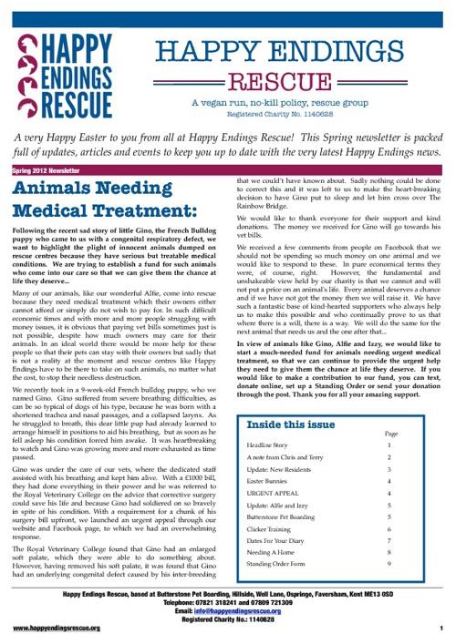 HEAR newsletter