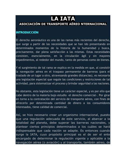 19. LA IATA