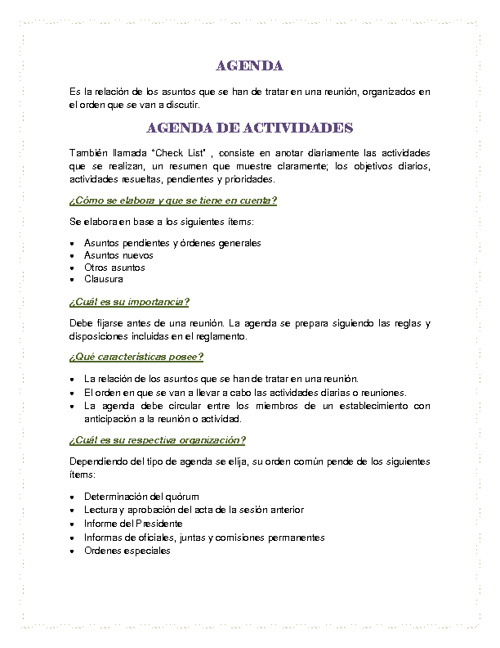 Agenda - Margarita Valencia