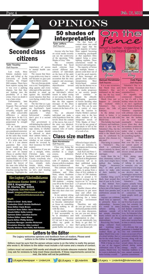 Feb. 17 issue of the Legacy
