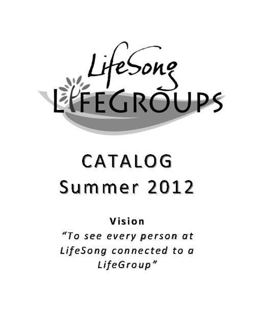 LifeGroups Summer Catalog