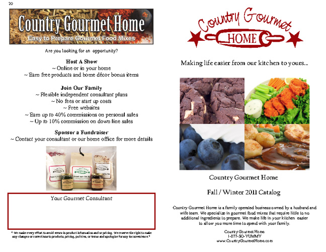 Country Gourmet Store's Online Catalog