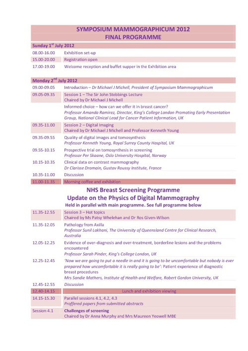 Programme Overview 18/06/12