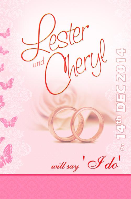 Lester & Cheryl - Wedding Invitation