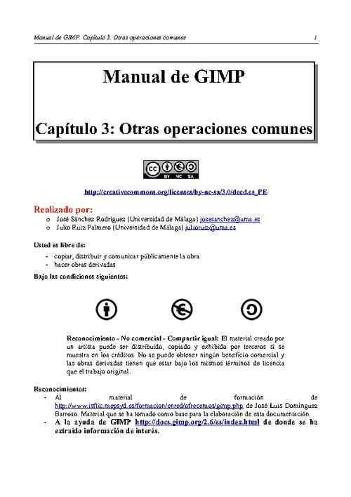 Capítulo 3: Otras operaciones comunes
