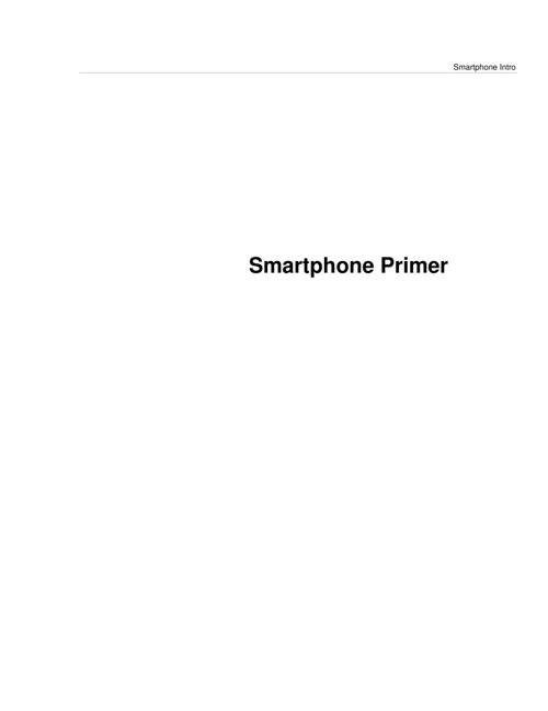 Smart Phone Primer