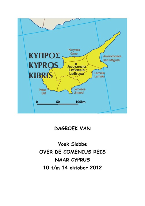 diary of trip to Cyprus Yoek