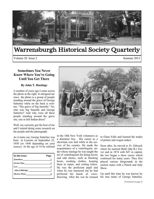 WHS Newsletter Summer2015
