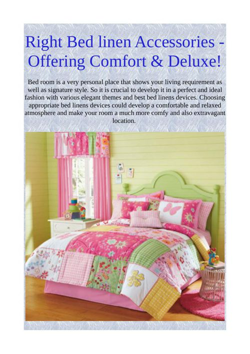 Right Bed linen Accessories - Offering Comfort & Deluxe!