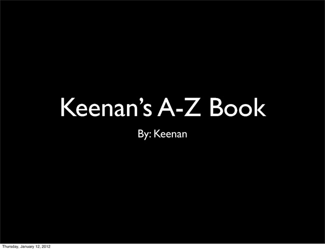 Keenan's A-Z Book