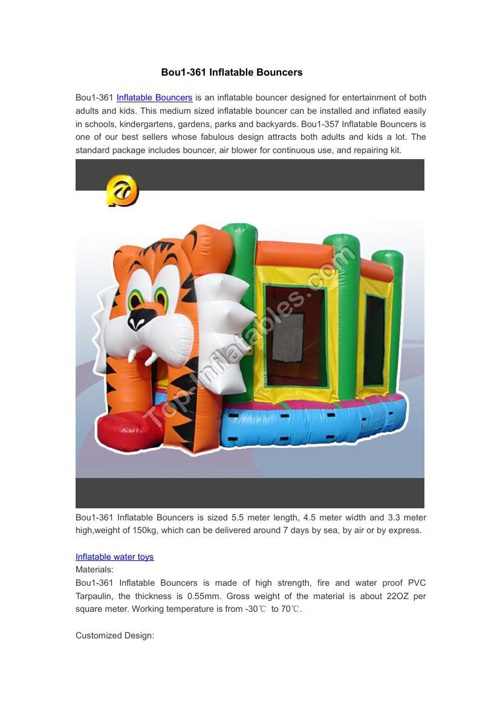 Bou1-361 Inflatable Bouncers