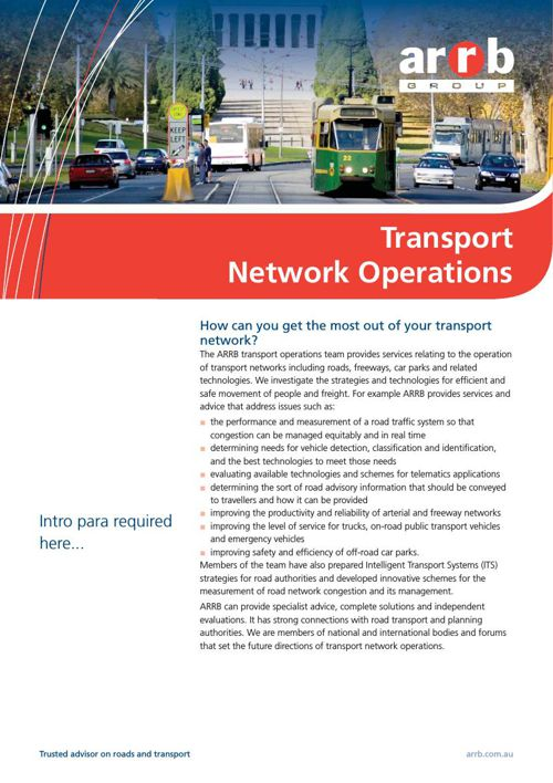 Transport network operations