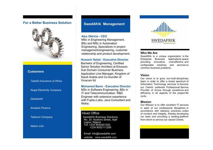 SwedAfrik Brochure