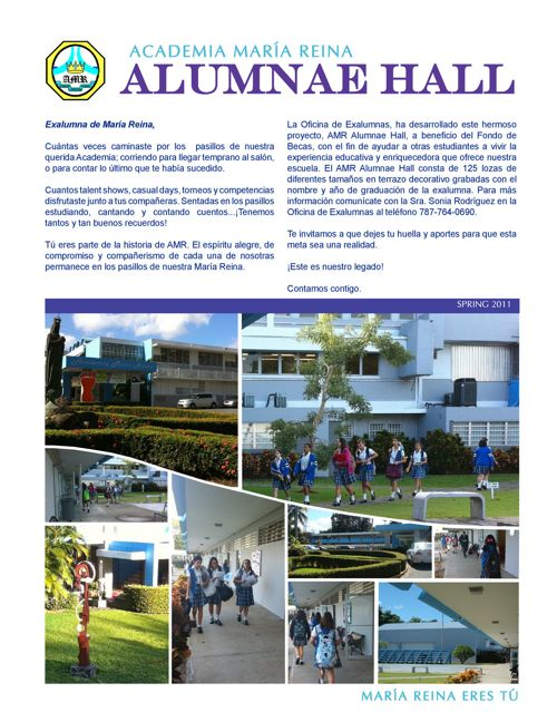 AMR Alumnae Hall Brochure