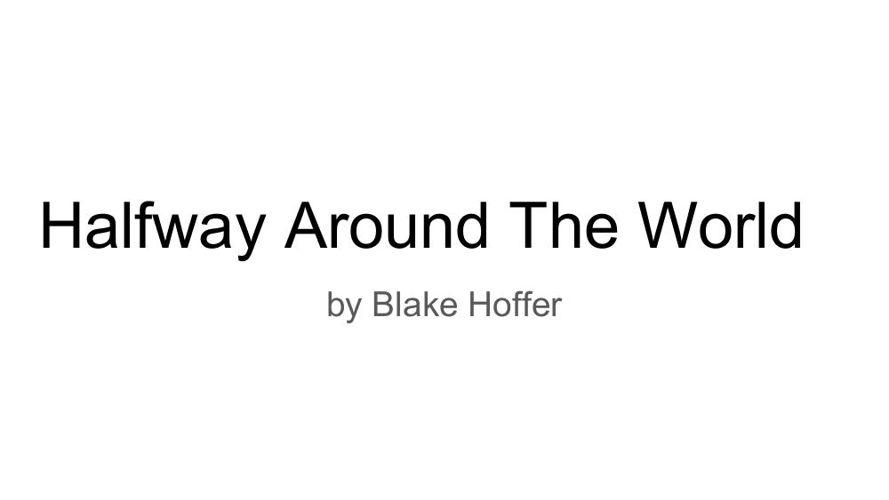 Blake's writing project