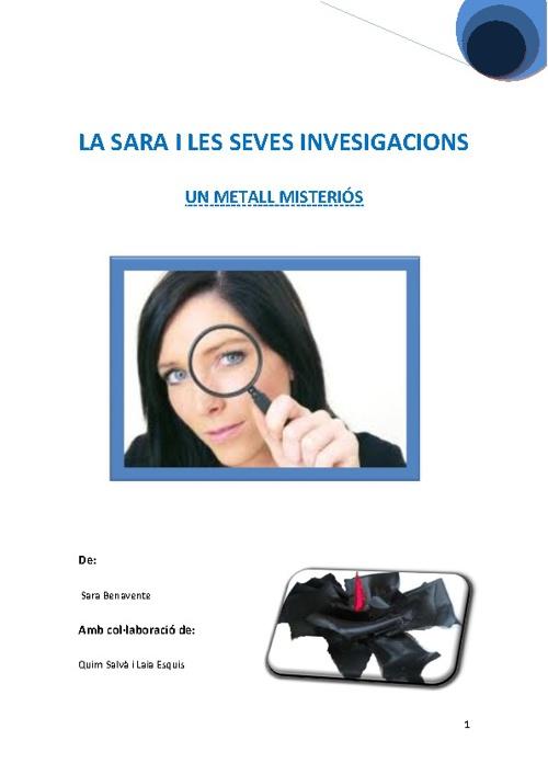 CONTE: LA SARA I LES SEVES IVESTIGACIONS