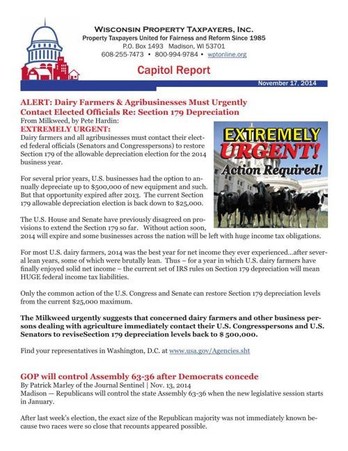 Capitol Report November 17, 2014