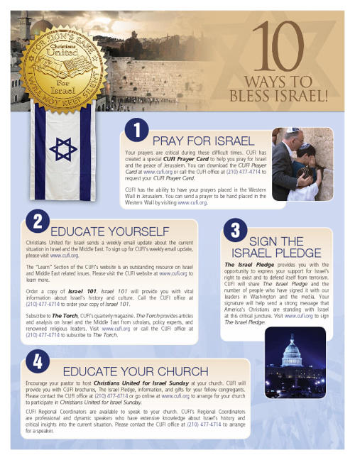 Ten Ways To Bless Israel!