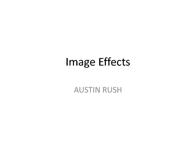 Austin R. Image Effects