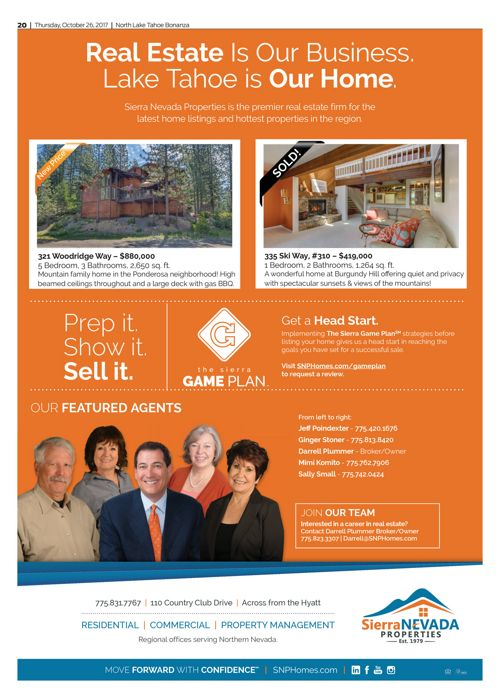 SNP Ad in the Tahoe Bonanza Oct. 25