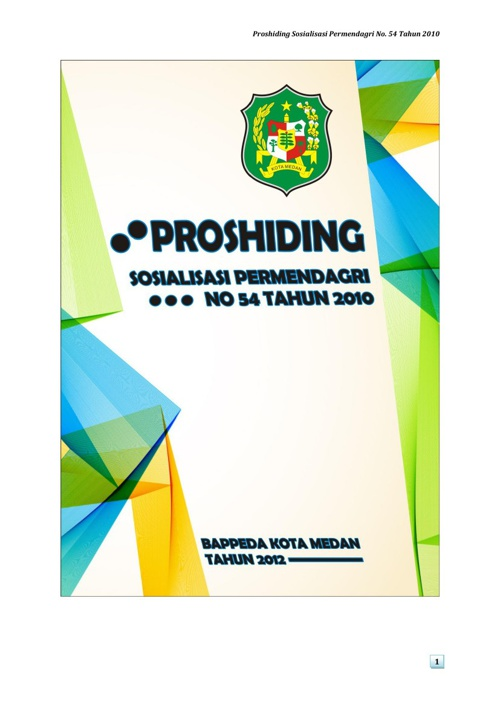 Proshiding Permendagri No. 54 Tahun 2010