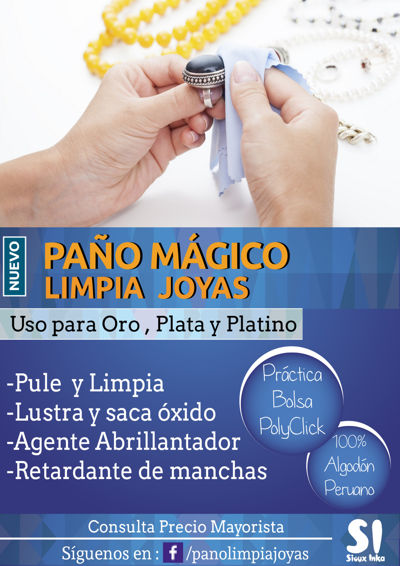 Catálogo Paño Limpia Joyas