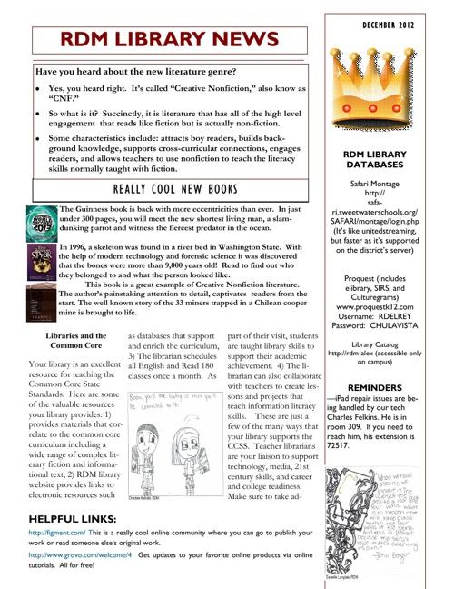 Library's Newsletter