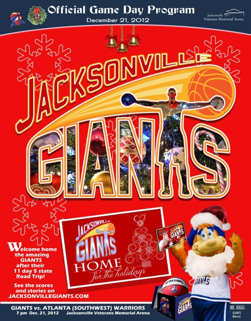 Jacksonville GIANTS - Dec. 21 Game Program