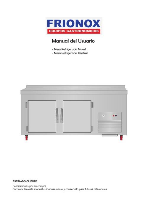 Manual Mesa Refrigerada