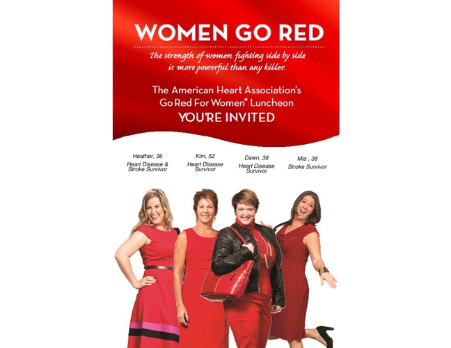 2013 Go Red For Women Invitation