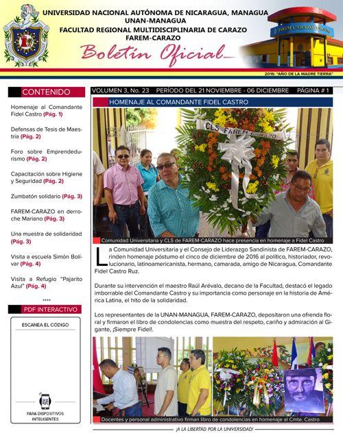 Boletín Oficial (Vol3. Núm.23)