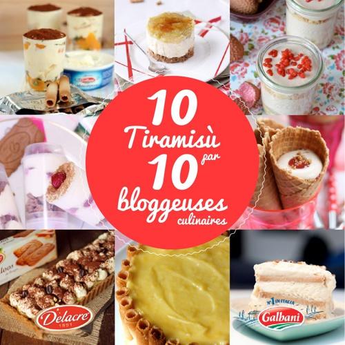 10 Tiramisù par 10 bloggeuses culinaires