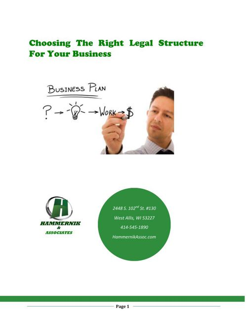 Choosing the Right Legal Structure
