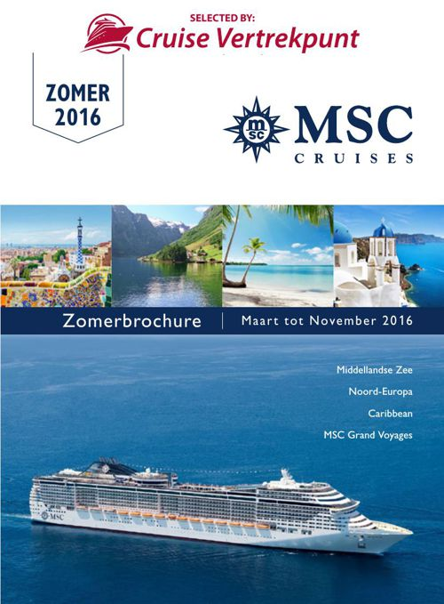 MSC CRUISES - ZOMER 2016