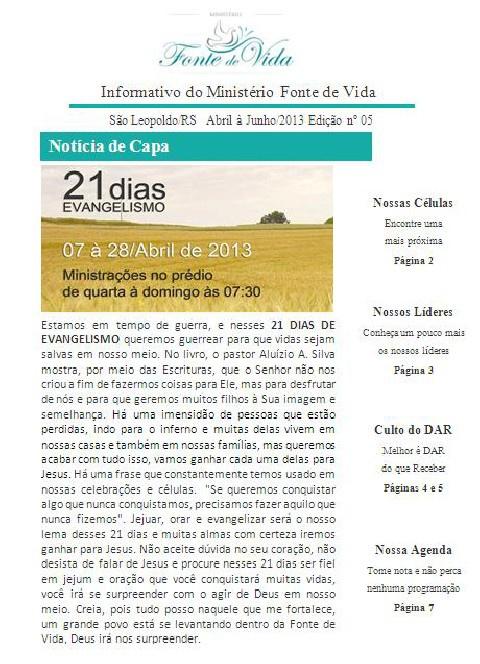 Informativo Abril/2013
