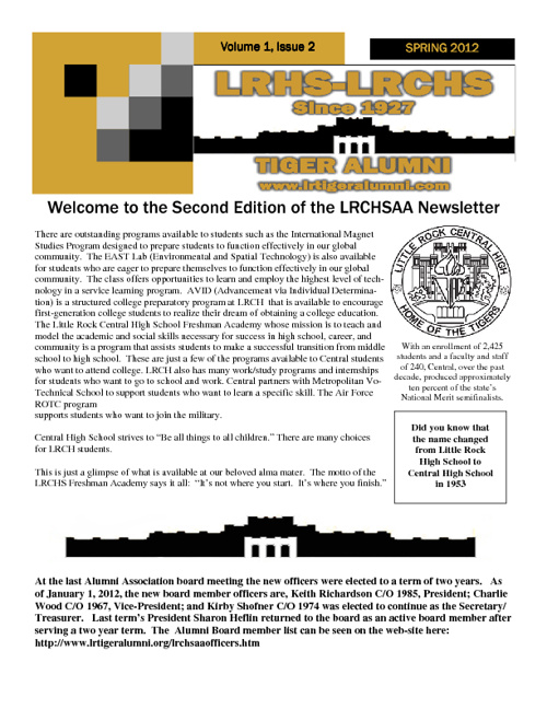 Alumni Newsletter #2