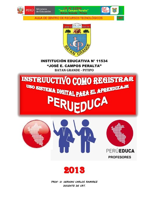 INSTRUCTIVO COMO INGRESAR A PERUEDUCA