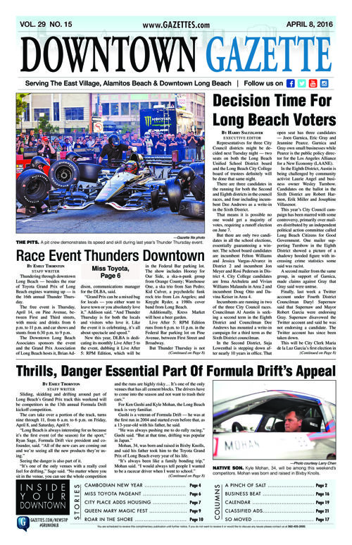 Downtown Gazette  |  April 8, 2016