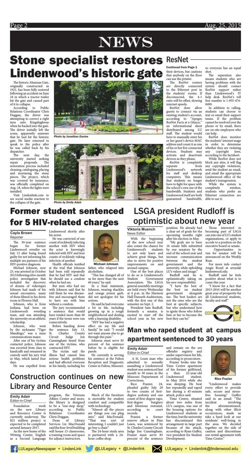 Aug. 25 issue of the Legacy